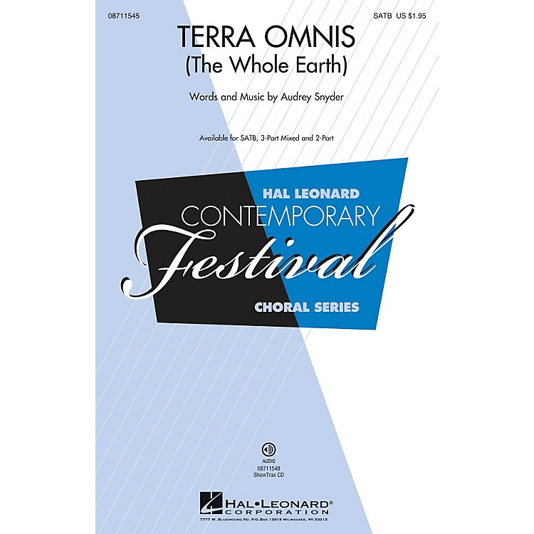 Hal LeonardTerra Omnis (The Whole Earth) ShowTrax CD Composed by Audrey Snyder