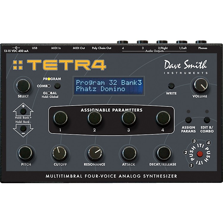 Dave Smith InstrumentsTetra Multitimbral Four-Voice Analog Synthesizer