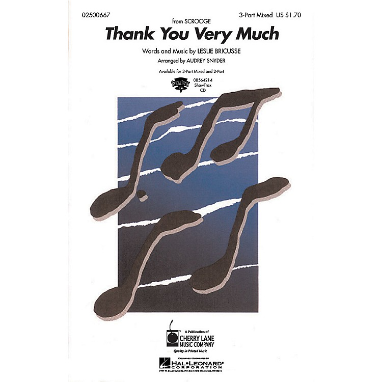 Hal LeonardThank You Very Much ShowTrax CD Arranged by Audrey Snyder