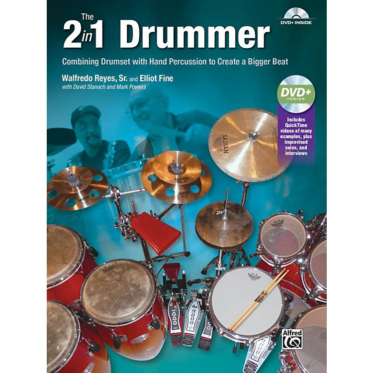 Alfred The 2-in-1 Drummer by Walfredo Reyes Sr Book & DVD