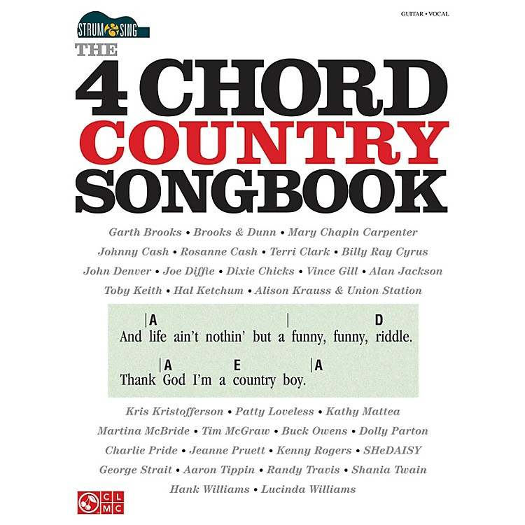 Cherry LaneThe 4-Chord Country Songbook - Strum & Sing Easy Guitar Series Softcover Performed by Various