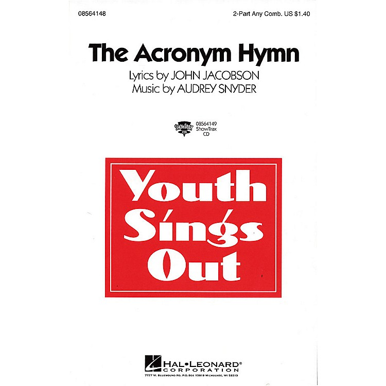 Hal LeonardThe Acronym Hymn ShowTrax CD Composed by Audrey Snyder