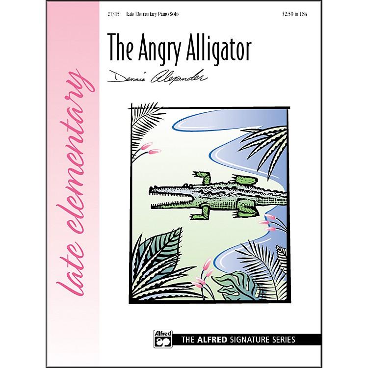 AlfredThe Angry Alligator Late Elementary Piano Sheet