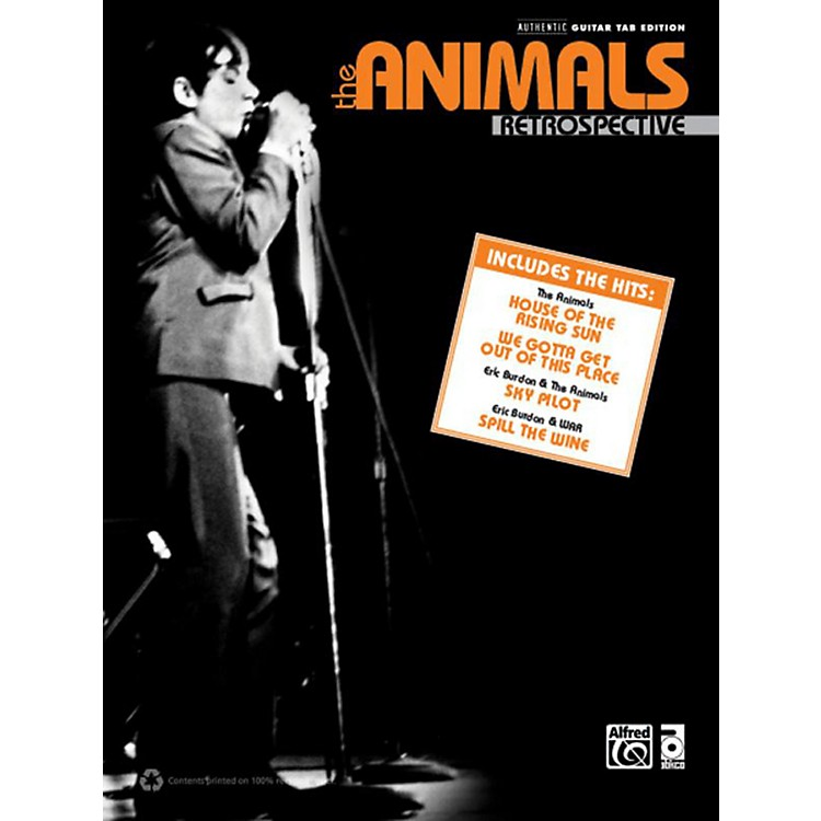 Alfred The Animals Retrospective Guitar TAB Book