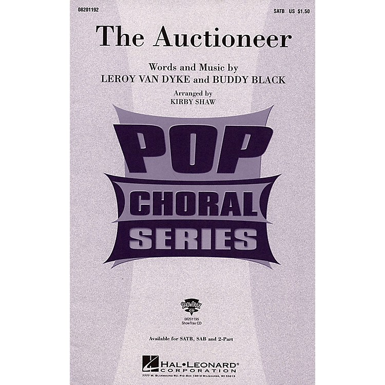 Hal Leonard The Auctioneer TBB Arranged by Kirby Shaw