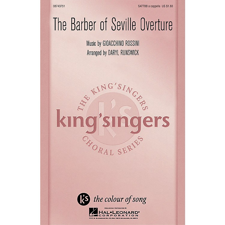 Hal LeonardThe Barber Of Seville Overture SATTBB