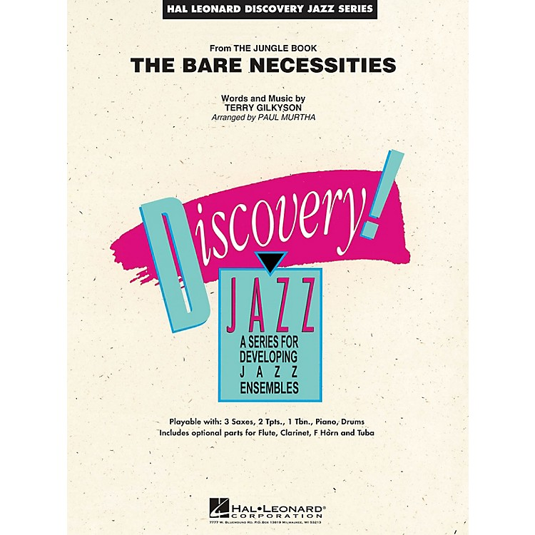 Hal LeonardThe Bare Necessities (from The Jungle Book) Jazz Band Level 1.5 Arranged by Paul Murtha