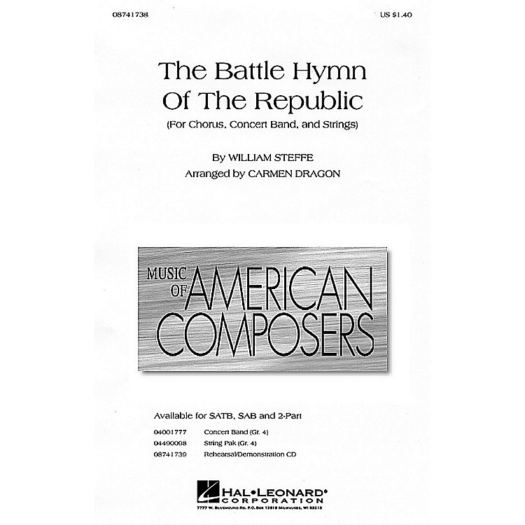 Hal Leonard The Battle Hymn of the Republic 2-Part arranged by Carmen Dragon