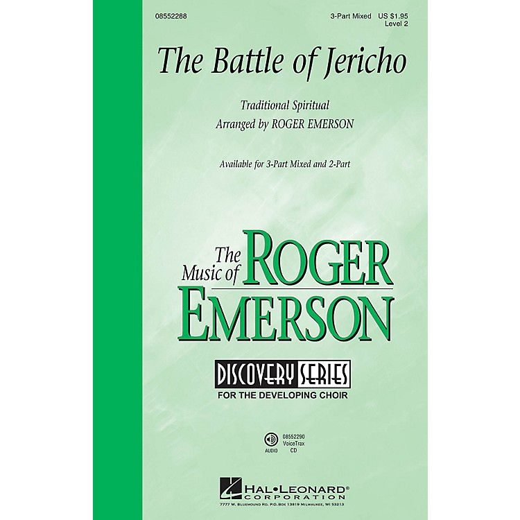 Hal Leonard The Battle of Jericho (Discovery Level 2) 2-Part Arranged by Roger Emerson