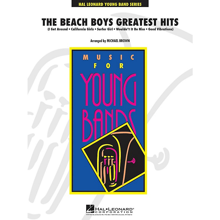 Hal LeonardThe Beach Boys Greatest Hits - Young Concert Band Series Level 3 arranged by Michael Brown