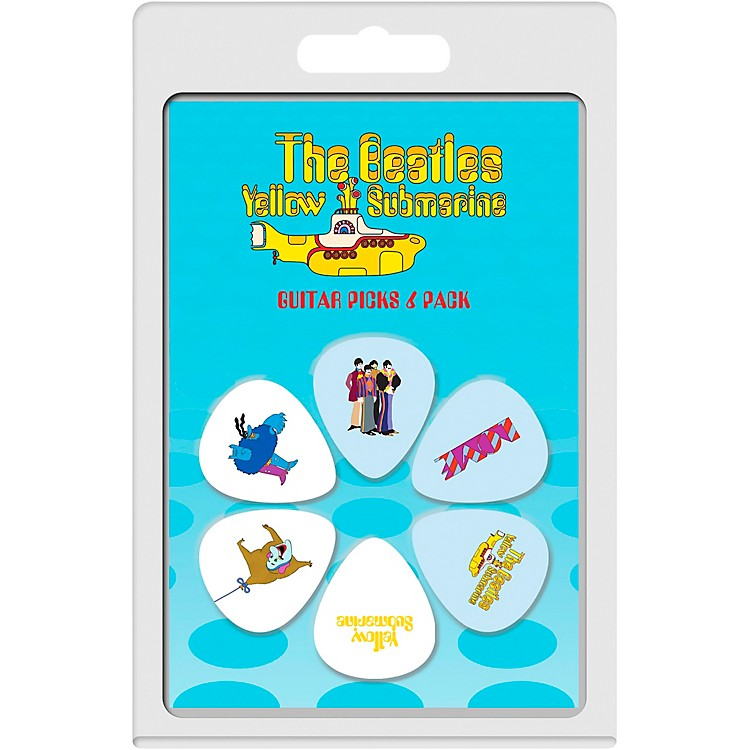 Perri's The Beatles - 6-Pack Guitar Picks Yellow Sub 1