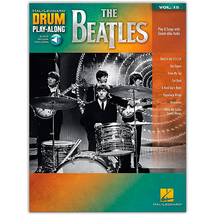 Hal Leonard The Beatles - Drum Play-Along Volume 15