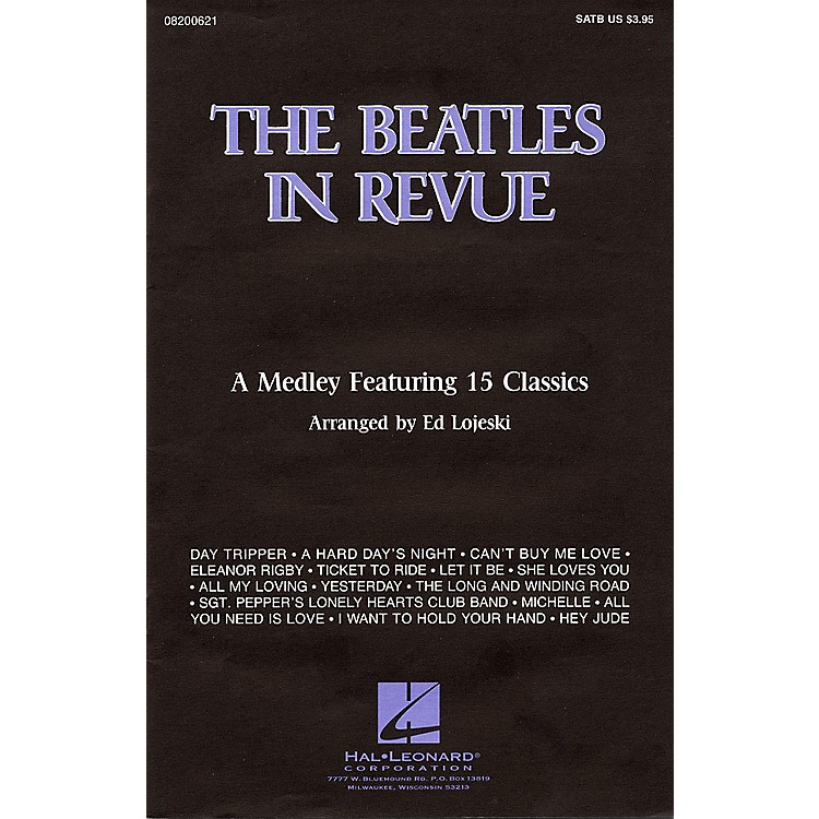 Hal LeonardThe Beatles in Revue (Medley of 15 Classics) Combo Parts by The Beatles Arranged by Ed Lojeski