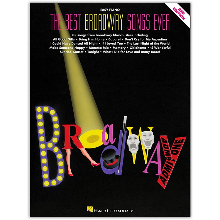 Hal Leonard The Best Broadway Songs Ever - Third Edition For Easy Piano