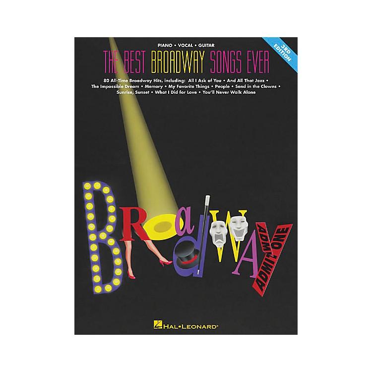 Hal LeonardThe Best Broadway Songs Ever Updated Piano, Vocal, Guitar Songbook