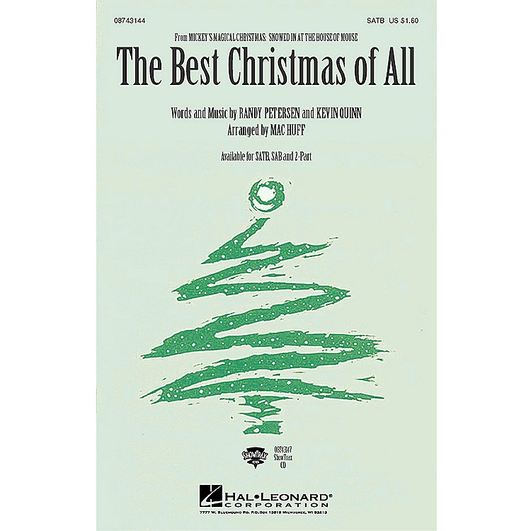 Hal Leonard The Best Christmas of All (from Mickey's Magical Christmas) (2-Part and Piano) 2-Part by Mac Huff