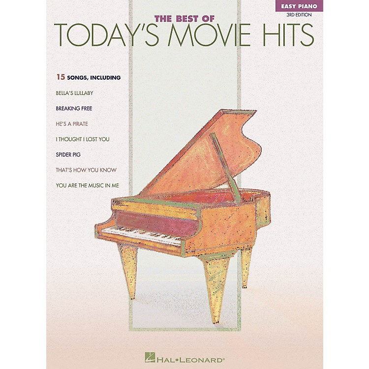 Hal LeonardThe Best Of Today's Movie Hits For Easy Piano 3rd Edition