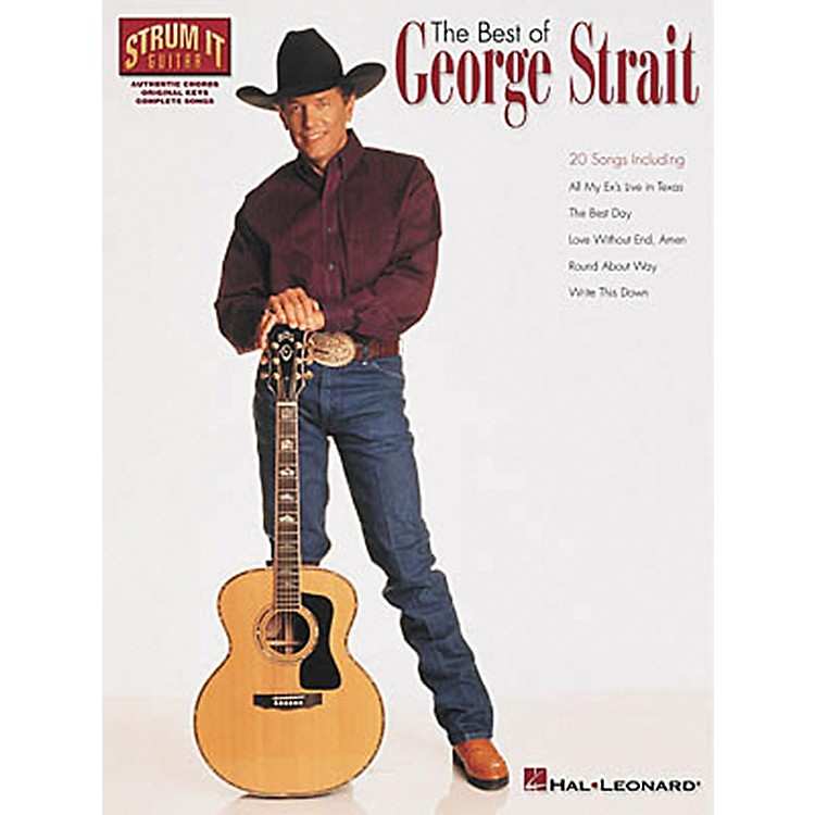Hal Leonard The Best of George Strait Guitar Chord Songbook