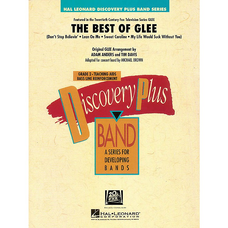 Hal LeonardThe Best of Glee - Discovery Plus Band Level 2 arranged by Michael Brown