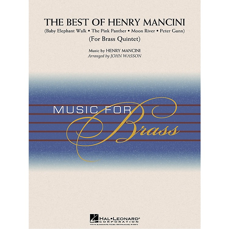 Hal LeonardThe Best of Henry Mancini (Brass Quintet (opt. Percussion)) Concert Band Level 3-4 by John Wasson