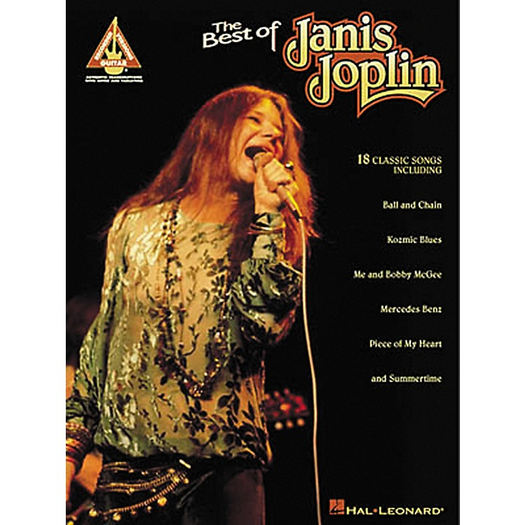 Hal Leonard The Best of Janis Joplin Guitar Tab Songbook