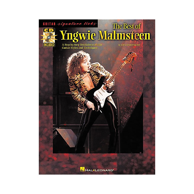 Hal LeonardThe Best of Yngwie Malmsteen Guitar Signature Licks Book with CD