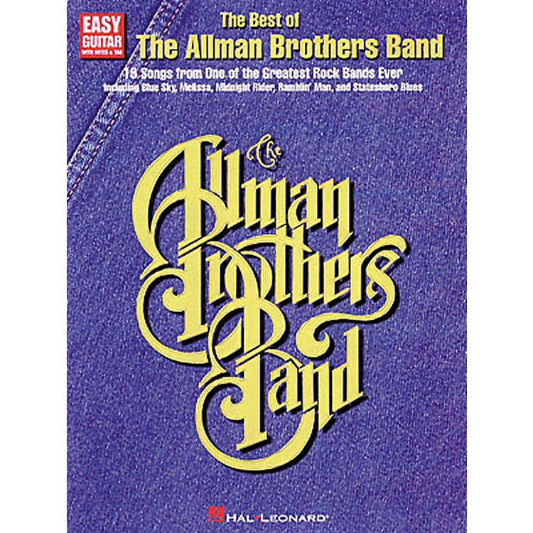 Hal LeonardThe Best of the Allman Brothers Band Easy Guitar Tab Songbook