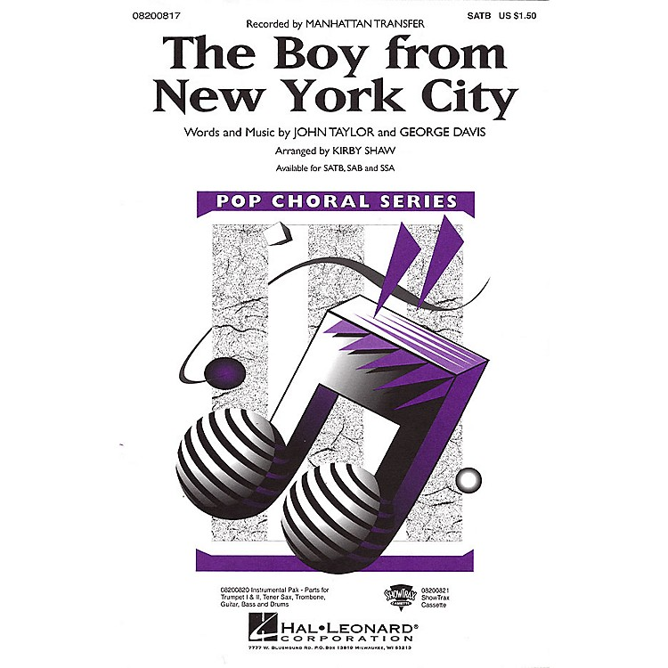 Hal Leonard The Boy from New York City ShowTrax CD by The Manhattan Transfer Arranged by Kirby Shaw