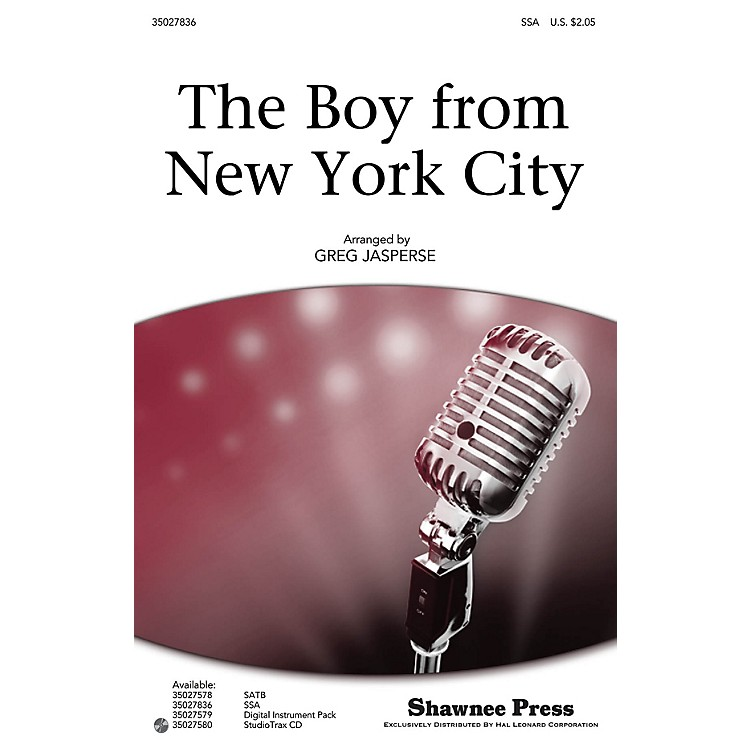 Shawnee Press The Boy from New York City Studiotrax CD by The Manhattan Transfer Arranged by Greg Jasperse
