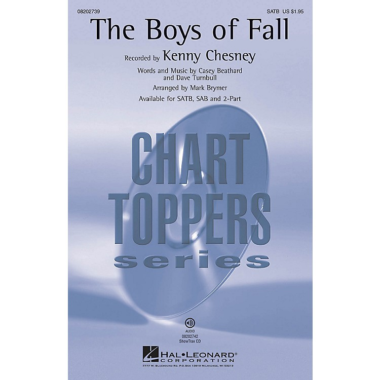 Hal LeonardThe Boys of Fall ShowTrax CD by Kenny Chesney Arranged by Mark Brymer