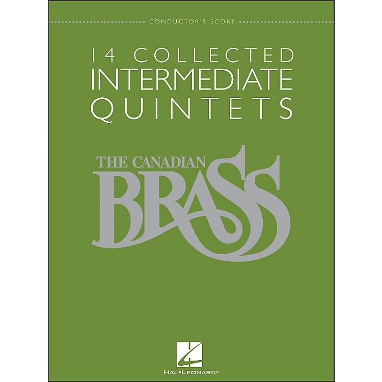 Hal LeonardThe Canadian Brass: 14 Collected Intermediate Quintets - Conductor's Score - Br Quintet