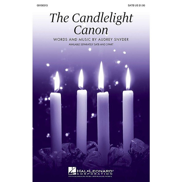 Hal LeonardThe Candlelight Canon SATB composed by Audrey Snyder
