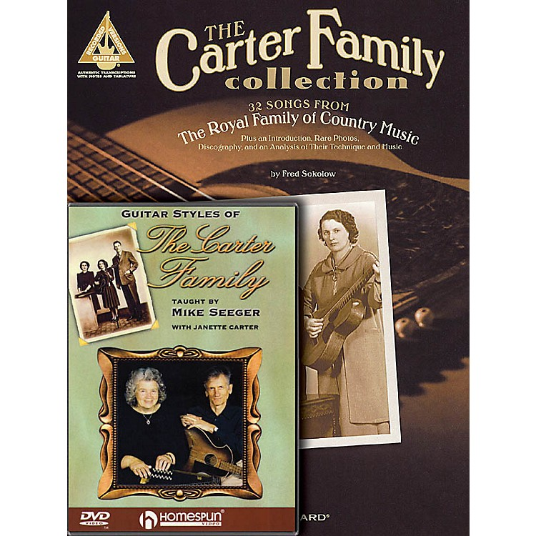 HomespunThe Carter Family Bundle Pack Homespun Tapes Series Softcover with DVD Performed by Carter Family