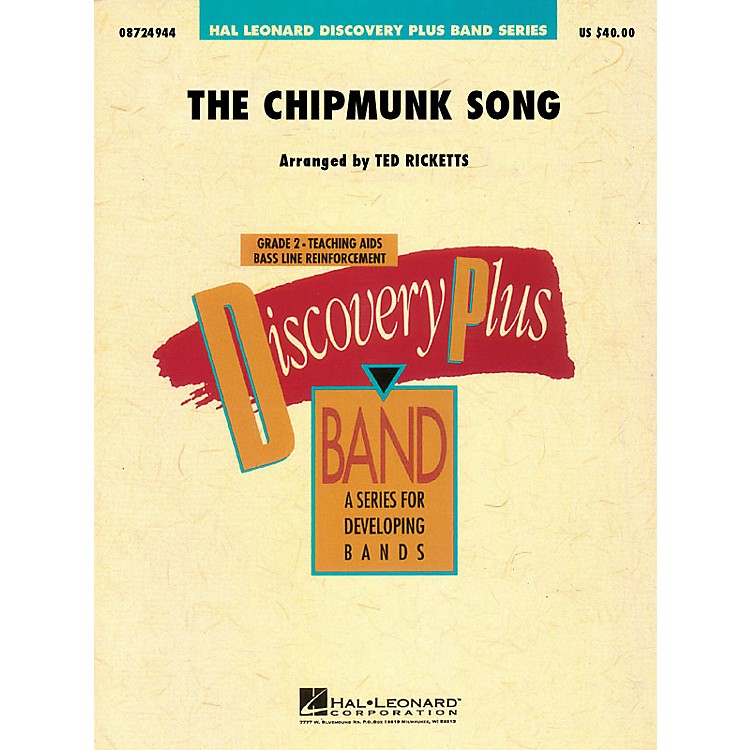 Hal LeonardThe Chipmunk Song - Discovery Plus Concert Band Series Level 2 arranged by Ted Ricketts