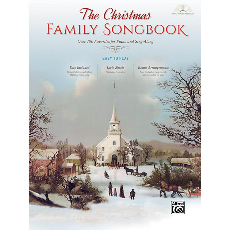Alfred The Christmas Family Songbook Hardcover Easy Piano/Vocal Book & DVD-ROM
