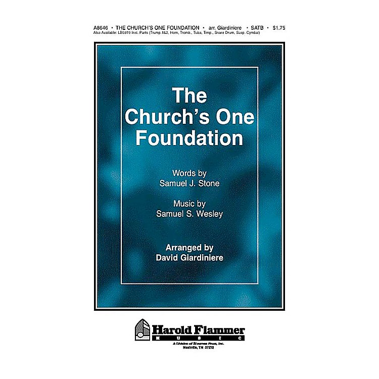 Shawnee PressThe Church's One Foundation SATB arranged by David Giardiniere