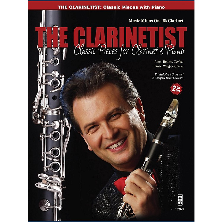 Music Minus OneThe Clarinetist - Classical Pieces for Clarinet and Piano Music Minus One Series BK/CD