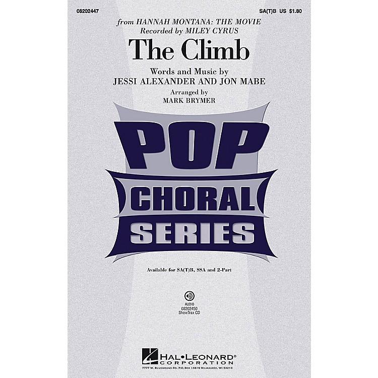 Hal LeonardThe Climb ShowTrax CD by Miley Cyrus Arranged by Mark Brymer
