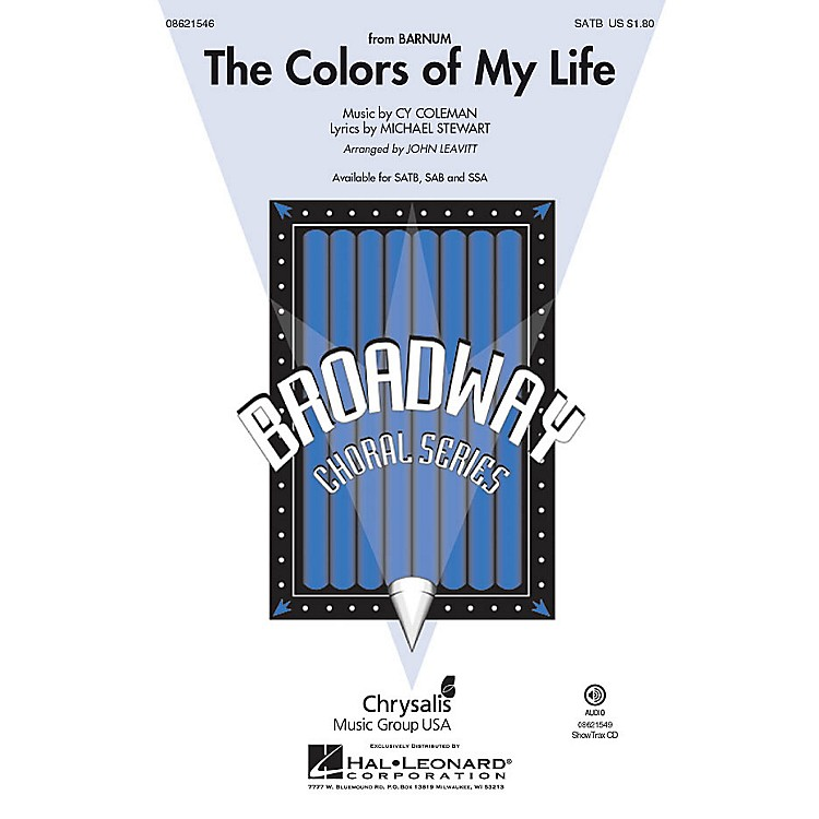 Hal Leonard The Colors of My Life (from Barnum) ShowTrax CD Arranged by John Leavitt