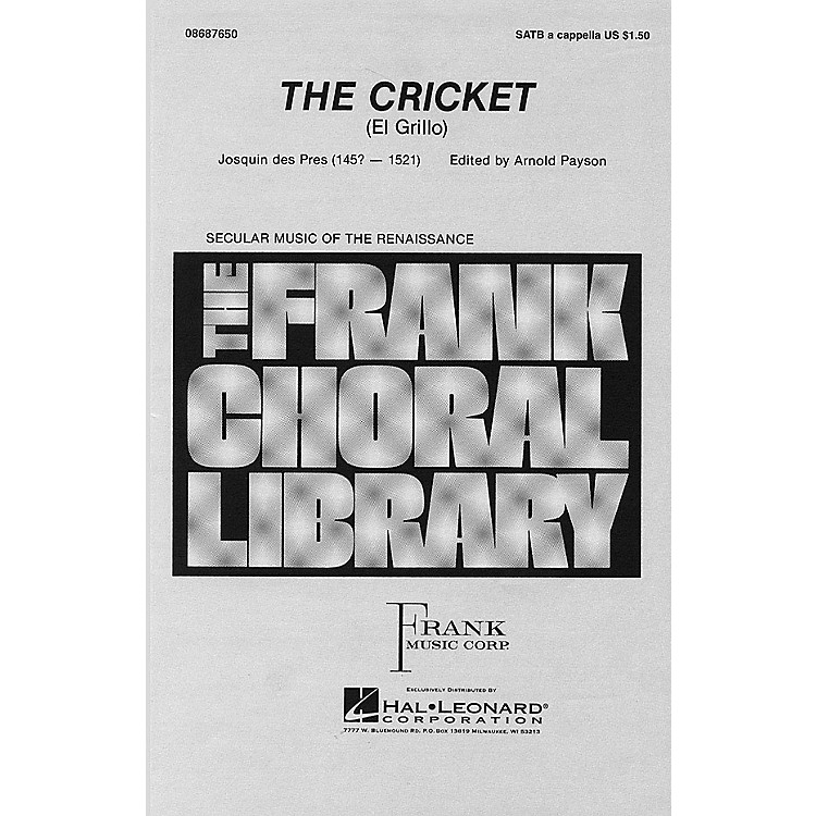 Hal Leonard The Cricket SATB a cappella arranged by Arnold Payson
