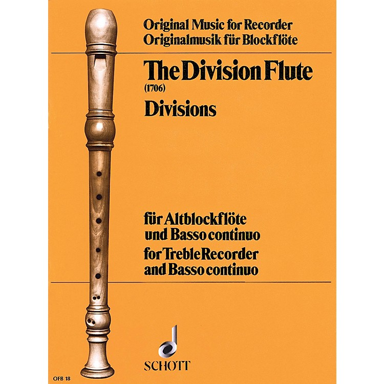 Schott The Division Flute (Divisions: for Alto Recorder and B.C.) Schott Series Softcover