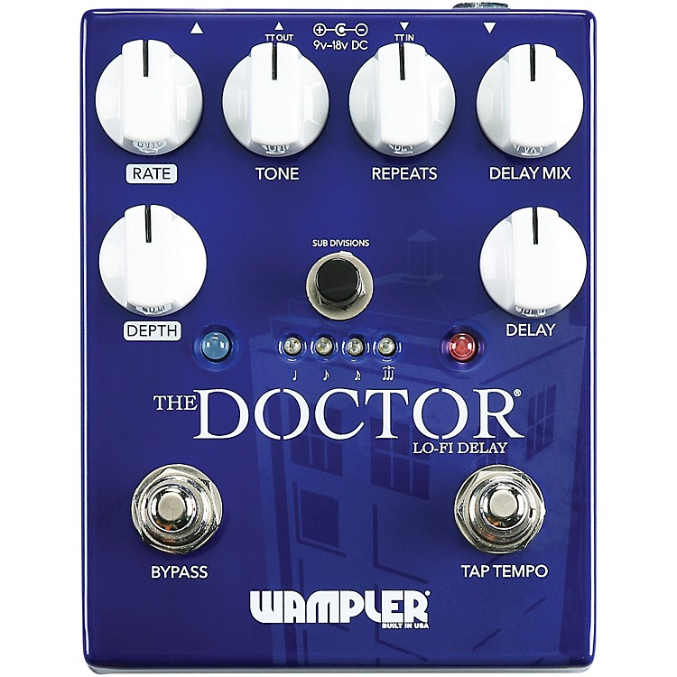 WamplerThe Doctor Lo-Fi Delay Effects Pedal