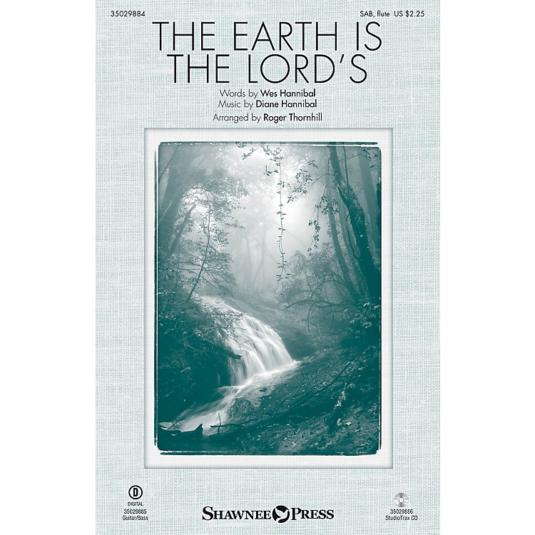 Shawnee PressThe Earth Is the Lord's SAB W/ FLUTE arranged by Roger Thornhill