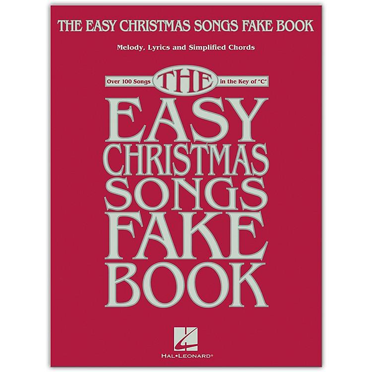 Hal LeonardThe Easy Christmas Songs Fake Book (100 Songs in the Key of C) Easy Fake Book Songbook