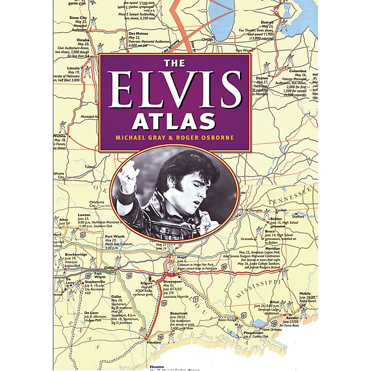 Hal Leonard The Elvis Atlas hard cover book