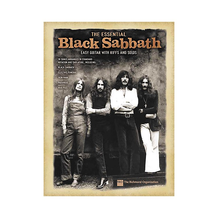 Hal Leonard The Essential Black Sabbath Easy Guitar Tab Songbook