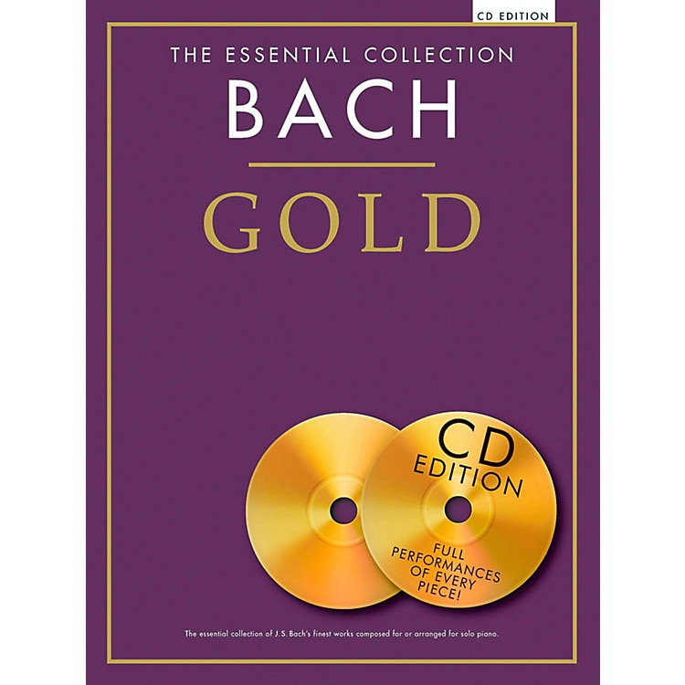 Music SalesThe Essential Collection - Bach Gold For Piano Solo Book/2CDs