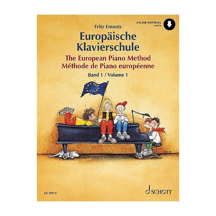 SchottThe European Piano Method - Volume 1 (German/French/English) Schott Series