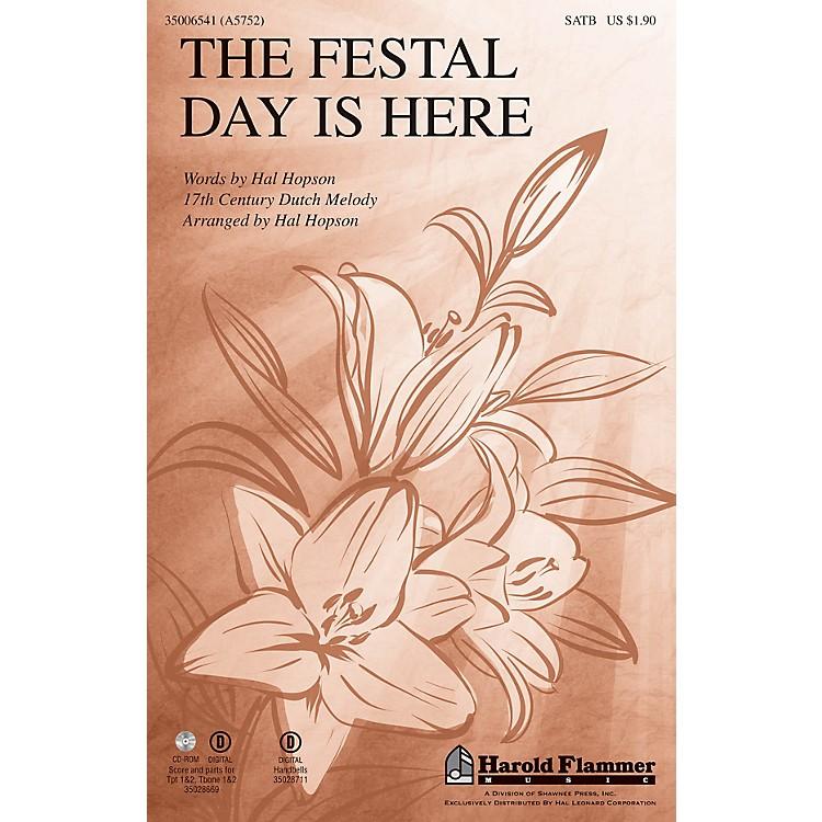 Shawnee PressThe Festal Day Is Here SATB arranged by Hal Hopson