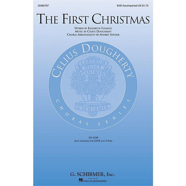 G. SchirmerThe First Christmas SAB arranged by Audrey Snyder